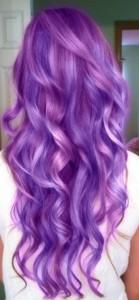 purple and lavender multi-dimensional haircolor