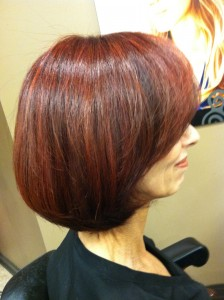 Deb bloss with a bit of red sparkle in her holiday. Try some new red tones with burgundy to give it some punch this season.