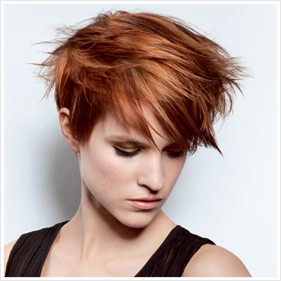 coppery highlights