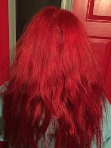 Ariel mermaid red hair color