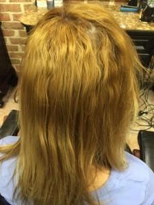 hair dye removal