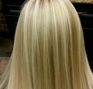 Blonde on blonde highlighting technique