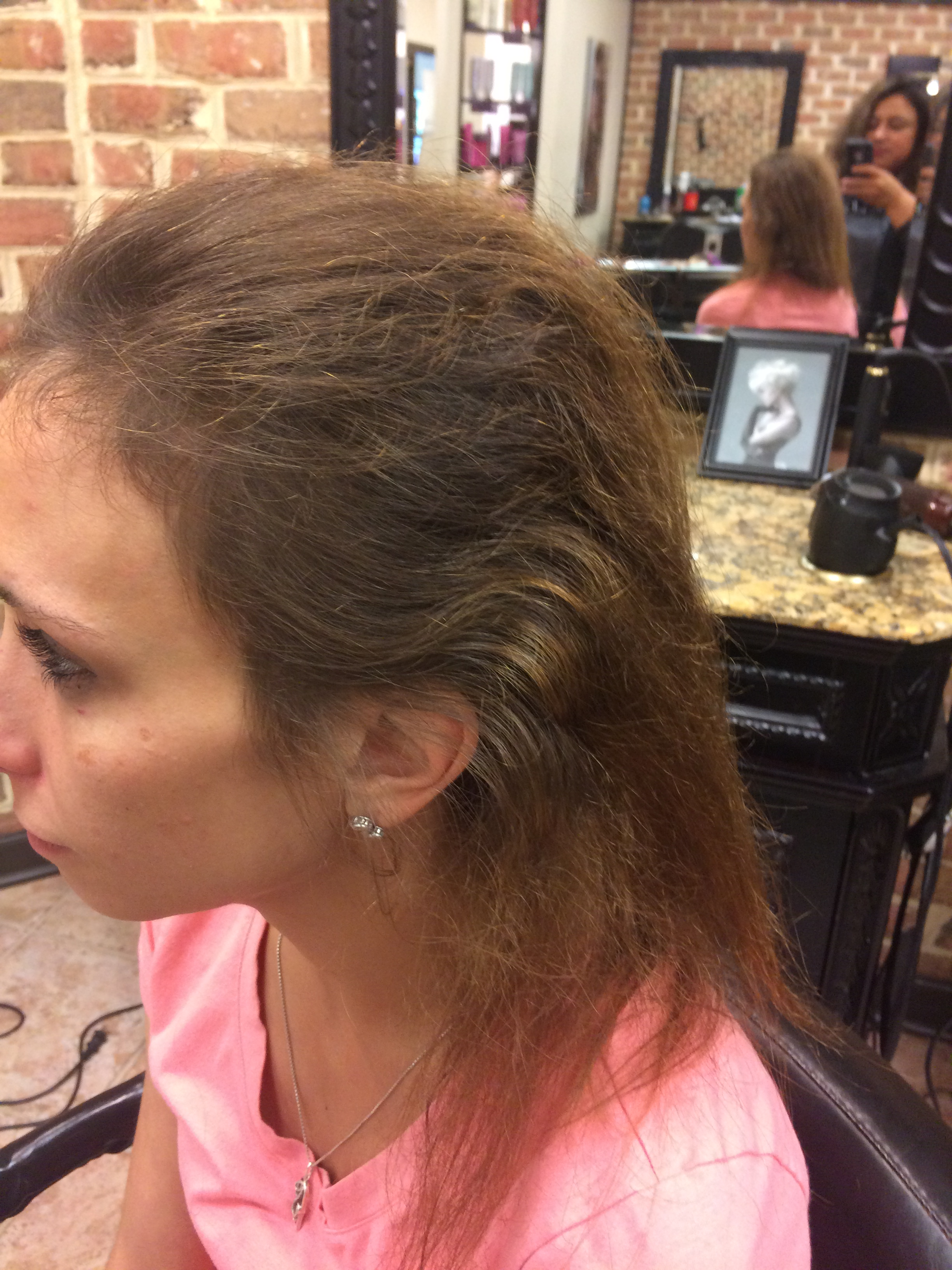 Melissa Side View Natural Curl Around Hairline Salon York Pa