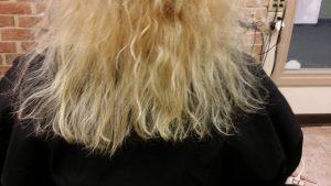 Broken uneven hair