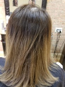 Brown to gray hair color