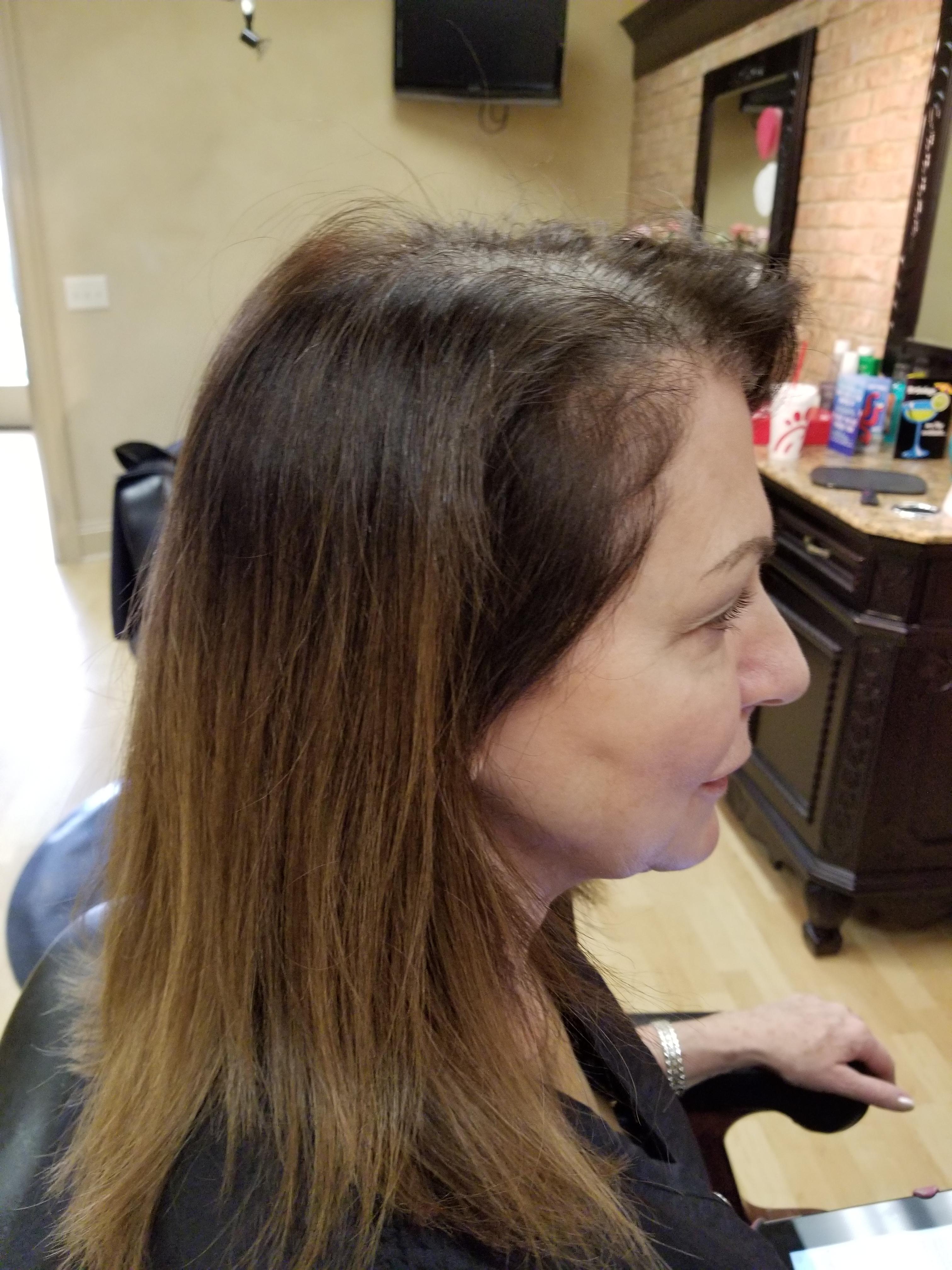 Maggie Before Right Side Gray Salon York Pa Indulge Salon