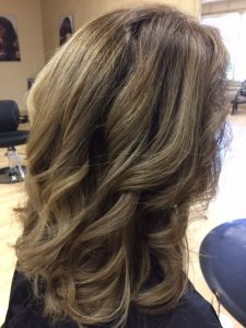 BEFORE highlighted hair brown to gray