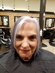 left the white hair out